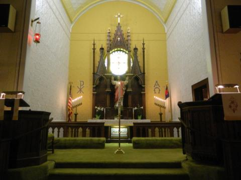 Paschal candlestick at St. Paul